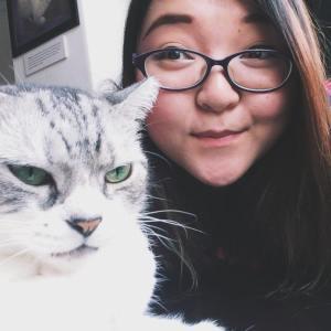 cropped cat selfie